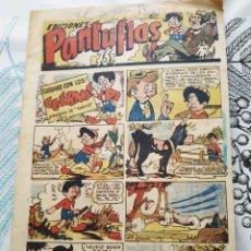 Tebeos: PANTUFLAS N.º 8 CUIDADO CON LOS CUERNOS ED. AMELLER 1946 AVALANCHA KID CASIO ... ORIGINAL DE EPOCA. Lote 217492263