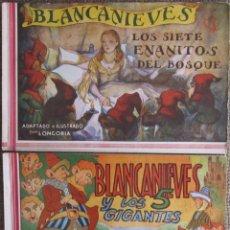 Tebeos: BLANCANIEVES: LOS SIETE ENANITOS + LOS 5 GIGANTES. ORIGINAL EDITORIAL AMELLER.ILUSTRADO POR LONGORIA. Lote 224426861