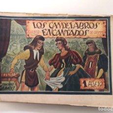 Tebeos: LOS CANDELABROS ENCANTADOS. AMELLER, 1941. DIBUJOS DE BATET. Lote 225046650