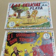 Tebeos: DON TRIQUI EDITORIAL AMELLER Nº 46 Y 71 LAS DELICIAS DE LA PLAYA Y EL SOBRINO DE DON TRIQUI ORIGINAL. Lote 227097565