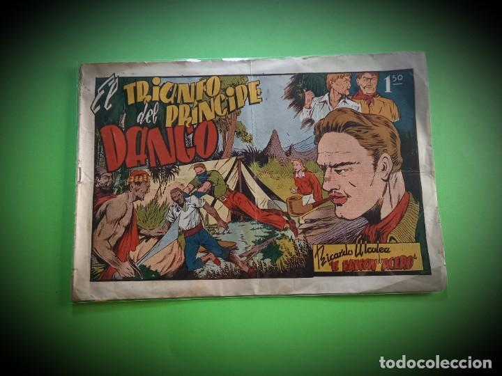 EL HALCÓN DE ACERO, Nº 2 EL TRIUNFO DEL PRINCIPE DANGO - EDITORIAL AMELLER 1944 - 22X32 CMS (Tebeos y Comics - Ameller)