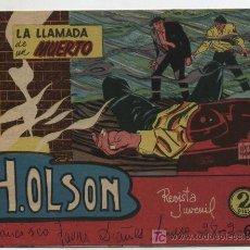 Tebeos: H. OLSON Nº 1. EDIT. BERNABEU? 1964.. Lote 18353457