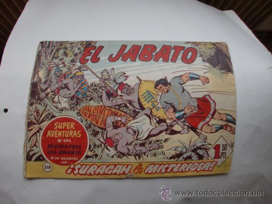 JABATO Nº 218 ORIGINAL (Tebeos y Comics - Bernabeu)