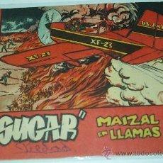 Tebeos: SUGAR Nº MAIZAL EN LLAMAS -BERNABEU 1964- Nº 46 - 15X21 - ORIGINAL. Lote 38991542