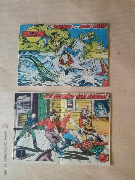 DAVY CROCKETT - Nº 7 -8 -BERNABEU - BIEN- LOS DOS JUNTOS (Tebeos y Comics - Bernabeu)