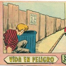 BDs: VIDAS EN ACCION Nº 25 AVENTURA DE LA SOMBRA JUSTICIERA ORIGINAL. Lote 45744139