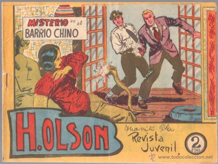 H.OLSON Nº 8 EDITORIAL MAGA 1964 ORIGINAL , ADOLFO BUYLLA DIBUJOS (Tebeos y Comics - Bernabeu)