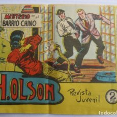 Tebeos: H.OLSON , MISTERIO EN EL BARRIO CHINO , NUMERO 8 , BERNABEU 1964. Lote 122964003
