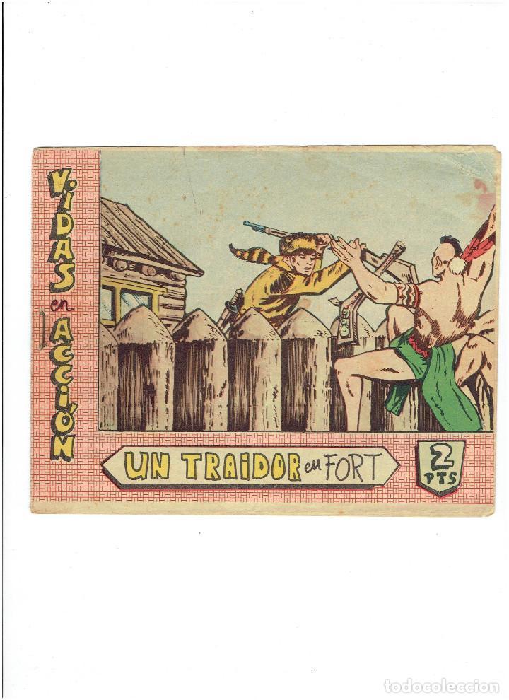 * VIDAS EN ACCIÓN * Nº 11. UN TRAIDOR EN FORT * ED. BERNABEU 1964 * ORIGINAL * (Tebeos y Comics - Bernabeu)