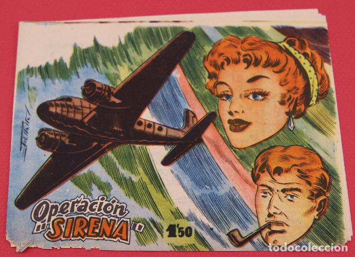 COLECCIÓN OPERACIÓN SIRENA - DISTRIBUIDORA BERNABEU 1964 ORIGINAL (Tebeos y Comics - Bernabeu)