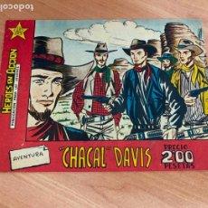Tebeos: HEROES EN ACCION. CHACAL DAVIS (ORIGINAL BERNABEU) (COIB-205). Lote 275086003