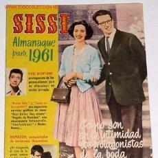 Tebeos: ANTIGUO ALMANAQUE SISSI 1961 CON FABIOLA DE BELGICA. Lote 902673