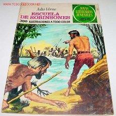 Tebeos: ANTIGUO TEBEO - JOYAS LITERARIAS JUVENILES - ESCUELA DE ROBINSONES - JULIO VERNE - 300 ILUSTRACIONES. Lote 21137529