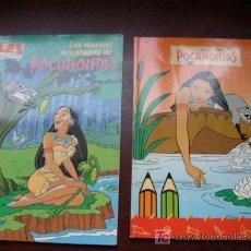 Tebeos: LAS NUEVAS AVENTURAS DE POCAHONTAS-OLÉ! DISNEY.- 1996-COMIC. -Y LIBRO PARA COLOREAR SEMIUSADO. Lote 17076860