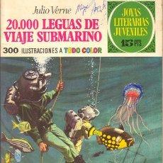 Tebeos: JOYAS LITERARIAS JUVENILES NUMERO 4. 20.000 LEGUAS DE VIAJE SUBMARINO. 1ª EDICIÓN 1970. Lote 26971320