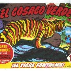 Tebeos: EL COSACO VERDE EL TIGRE FANTASMA Nº 462 SUPERAVENTURAS EDITORIAL BRUGUERA 1961. Lote 5028842