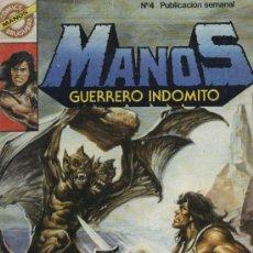 Tebeos: MANOS: GUERRERO INDÓMITO - Nº 4 - ED. BRUGUERA 1984. Lote 5404365