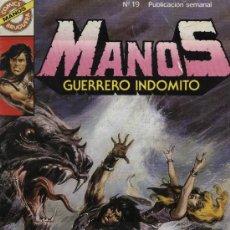 Tebeos: MANOS: GUERRERO INDÓMITO - Nº 19 - ED. BRUGUERA 1984. Lote 5404426