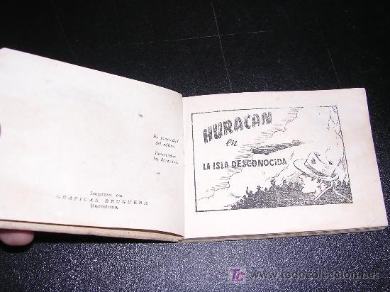 Tebeos: HURACAN EN LA ISLA DESCONOCIDA, Nº17, GRAF. BRUGUERA, ILUSTRADO, AÑOS 40-50, - Foto 2 - 12391385