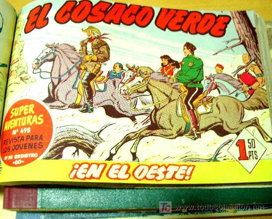 EL COSACO VERDE (BRUGUERA) 144 EJ (COMPLETA) (ENCUADERNADA EN 3 TOMOS) (Tebeos y Comics - Bruguera - Cosaco Verde)