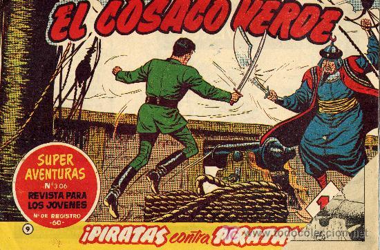 EL COSACO VERDE Nº9 (CUADERNILLO ORIGINAL) FERNANDO COSTA Y VÍCTOR MORA. EDITORIAL BRUGUERA (Tebeos y Comics - Bruguera - Cosaco Verde)