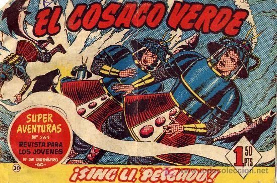 EL COSACO VERDE Nº30 (CUADERNILLO ORIGINAL) FERNANDO COSTA Y VÍCTOR MORA. EDITORIAL BRUGUERA (Tebeos y Comics - Bruguera - Cosaco Verde)