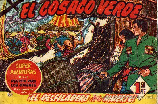 EL COSACO VERDE Nº33 (CUADERNILLO ORIGINAL) FERNANDO COSTA Y VÍCTOR MORA. EDITORIAL BRUGUERA (Tebeos y Comics - Bruguera - Cosaco Verde)