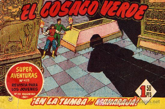 EL COSACO VERDE Nº51 (CUADERNILLO ORIGINAL) FERNANDO COSTA Y VÍCTOR MORA. EDITORIAL BRUGUERA) (Tebeos y Comics - Bruguera - Cosaco Verde)