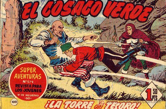 EL COSACO VERDE Nº100 (CUADERNILLO ORIGINAL) FERNANDO COSTA Y VÍCTOR MORA. EDITORIAL BRUGUERA (Tebeos y Comics - Bruguera - Cosaco Verde)