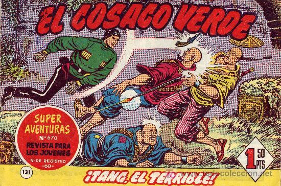 EL COSACO VERDE Nº131 (CUADERNILLO ORIGINAL) FERNANDO COSTA Y VÍCTOR MORA. EDITORIAL BRUGUERA (Tebeos y Comics - Bruguera - Cosaco Verde)