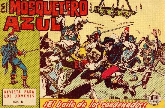 EL MOSQUETERO AZUL Nº 5 (CUADERNILLO ORIGINAL). EDITORIAL BRUGUERA 1962. DIBUJOS DE MANUEL GAGO (Tebeos y Comics - Bruguera - Cuadernillos Varios)