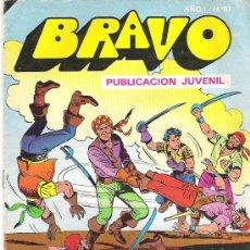 Tebeos: BRAVO Nº 61 - EL CACHORRO 31 - BRUGUERA 1976. Lote 7592824