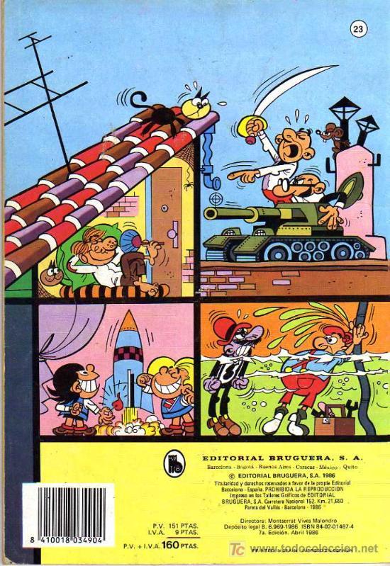 Tebeos: 13 RUE DEL PERCEBE - LA CASA DE LOS MIL CHISTES - COL. OLE Nº 23 - ED. BRUGUERA 1986 - Foto 2 - 9764278