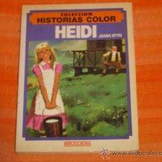 Tebeos: COLECCION HISTORIAS COLOR N°6 HEIDI JUANA SPYRI BRUGUERA 1°EDICION 1983. Lote 26782044