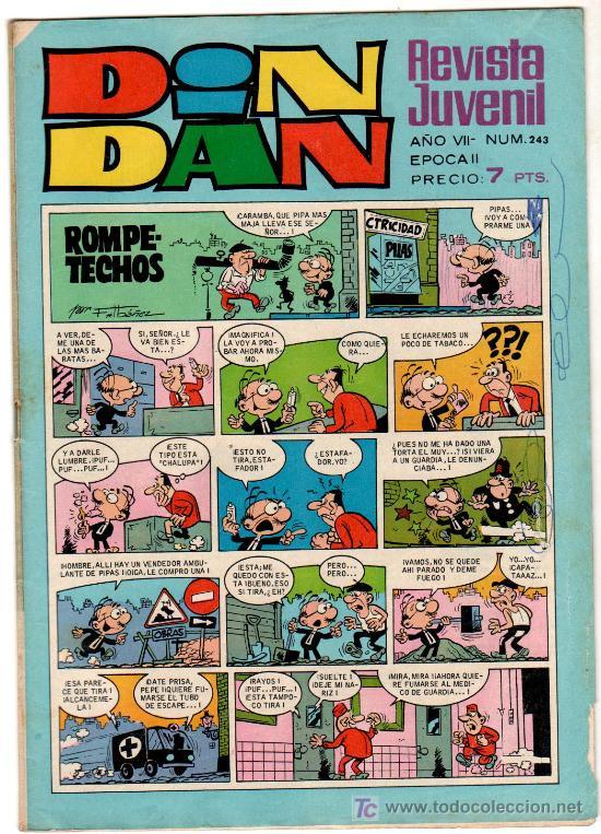 DIN DAN 243 CON MICHEL TANGUY- GUERRA EN EL DESIERTO-, EPISODIO 1 DE BERNARDETTE (Tebeos y Comics - Bruguera - Din Dan)