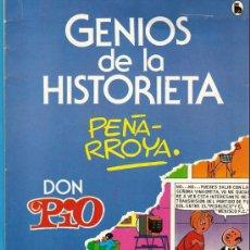 Tebeos: COMIC GENIOS DE LA HISTORIETA DE BRUGUERA CON DON PIO, NUEVO, SIN USO. Lote 49609224