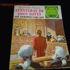 Tebeos: JOYAS LITERARIAS JUVENILES AVENTURAS DE JOHN DAVYS. Lote 4950696
