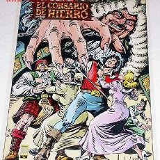 Tebeos: POSTER DE EL CORSARIO DE HIERRO, ILUSTRADO POR AMBROS. EDICIONES B, 1988.. Lote 23957425