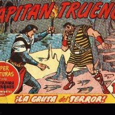 Tebeos: EL CAPITAN TRUENO Nº220SUPER AVENURAS,EDITORIAL BRUGUERA 1960 -¡LA GRUTA DEL TERROR!. Lote 2954794