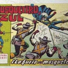 Tebeos: EL MOSQUETERO AZUL N 20 LA FURIA DEL MOSQUETERO EDITORIAL BRUGUERA 1962. Lote 9945246
