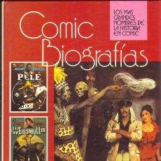 Tebeos: COMIC BIOGRAFIAS: PELE, JOHNNY WEISSMULLER Y LIVINGSTONE. Lote 26994856