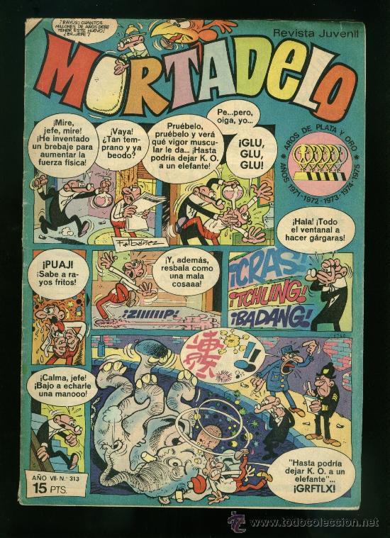 MORTADELO, EDITORIAL BRUGUERA NÚMERO: 313 (Tebeos y Comics - Bruguera - Mortadelo)