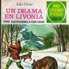 Tebeos: UN DRAMA EN LIVONIA - JULIO VERNE - JOYAS LITERARIAS JUVENILES - ED. BRUGUERA 1976. Lote 27544854