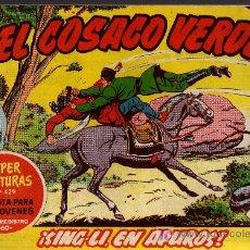 BDs: EL COSACO VERDE Nº 50 - MORA/COSTA - EDITORIAL BRUGUERA 1960/61 - ORIGINAL, NO FACSIMIL. Lote 11321598