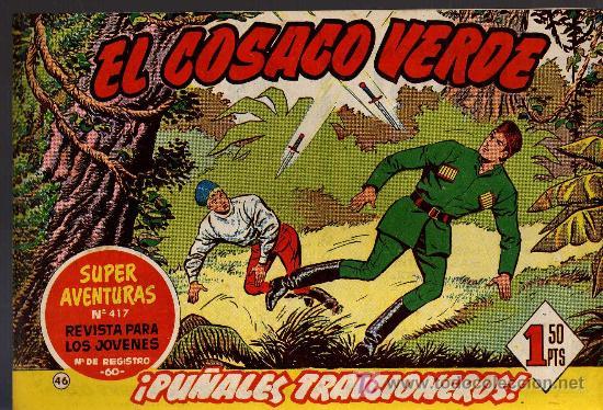 EL COSACO VERDE Nº 46 - MORA/COSTA - EDITORIAL BRUGUERA 1960/61 - ORIGINAL, NO FACSIMIL (Tebeos y Comics - Bruguera - Cosaco Verde)