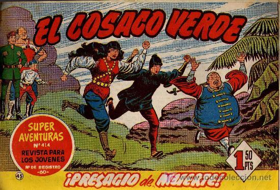 EL COSACO VERDE Nº 45 - MORA/COSTA - EDITORIAL BRUGUERA 1960/61 - ORIGINAL, NO FACSIMIL (Tebeos y Comics - Bruguera - Cosaco Verde)