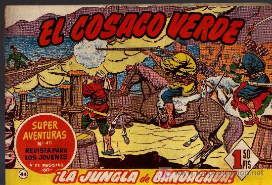 EL COSACO VERDE Nº 44 - MORA/COSTA - EDITORIAL BRUGUERA 1960/61 - ORIGINAL, NO FACSIMIL (Tebeos y Comics - Bruguera - Cosaco Verde)