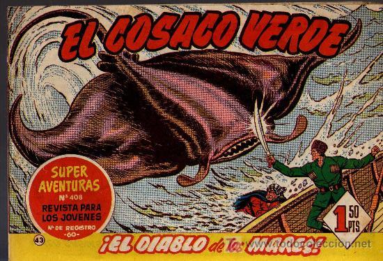EL COSACO VERDE Nº 43 - MORA/COSTA - EDITORIAL BRUGUERA 1960/61 - ORIGINAL, NO FACSIMIL (Tebeos y Comics - Bruguera - Cosaco Verde)