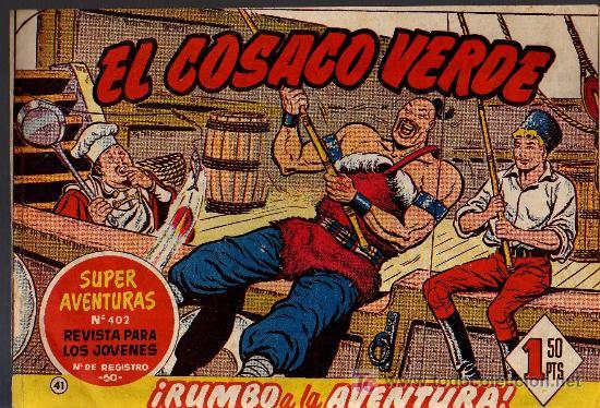 EL COSACO VERDE Nº 41 - MORA/COSTA - EDITORIAL BRUGUERA 1960/61 - ORIGINAL, NO FACSIMIL (Tebeos y Comics - Bruguera - Cosaco Verde)