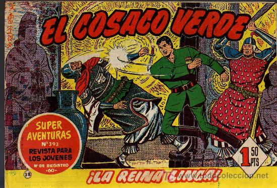 EL COSACO VERDE Nº 38 - MORA/COSTA - EDITORIAL BRUGUERA 1960/61 - ORIGINAL, NO FACSIMIL (Tebeos y Comics - Bruguera - Cosaco Verde)